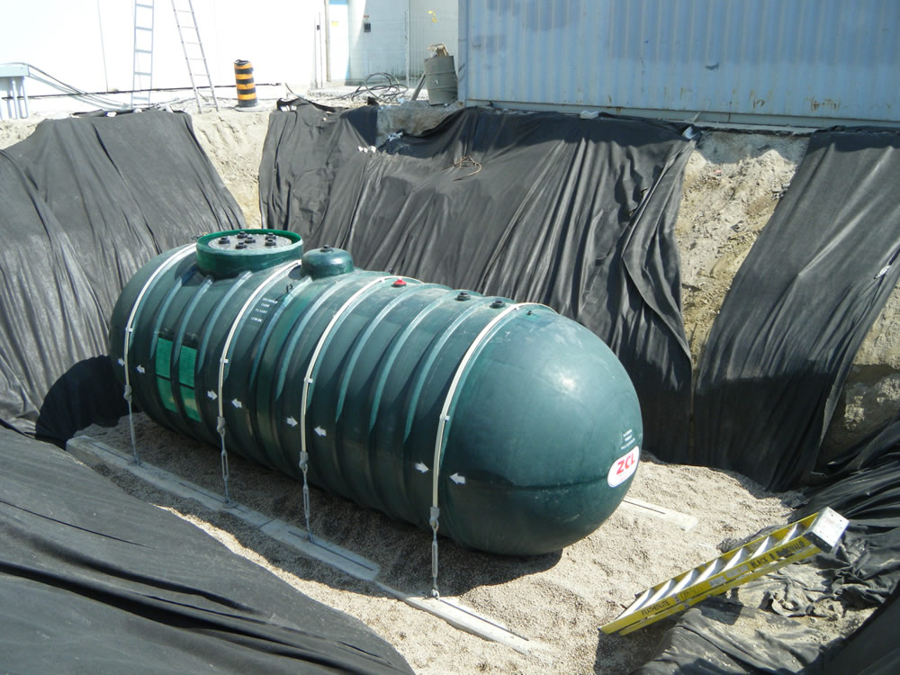 New commercial oil tank