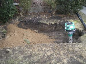 Digging out a residential oil tank