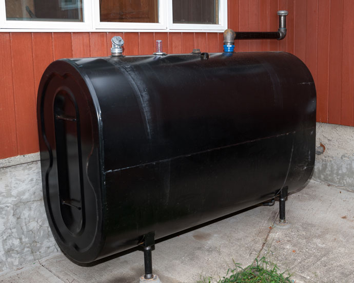 An above ground oil tank
